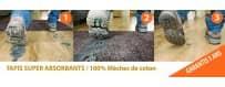 Tapis super absorbant 100% coton - Tapis d'entree Karpet